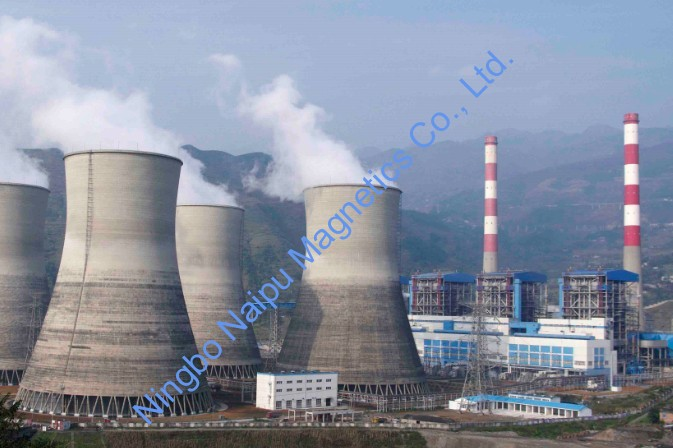 Application of magnet in thermal power plant
